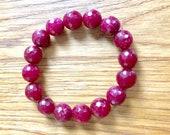 Women bracelet, Wine colour Stein Schmuck, Perlen Armband Schutz Stein Geschenkidee für Mutter