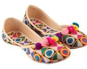 Women belly shoes - women Footwear -Handmade Traditional Indian Party wear Shoes -Ethnic ballerinas