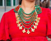 Necklace Tribal Necklace Heavey Necklace Tribal Halskette, Hippie-Halskette, Handgemacht