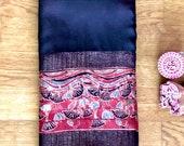 Indian Sari Ajrakh hand block printed modal silk saree