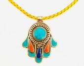 Tibetan Turquoise Blue Necklace -Boho jewelry - Tribal - Ethnic Jewellery Necklace for women türkis Halskette
