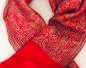 Pashmina Silk Scarf Wrap shawl Paschmina schal Handwoven soft pashmina silk stole/shawl