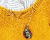 Silver Pendent- Silver Necklace- 925 Silver Pendent - Semi Precious stone Pendent - Frauen schmuck Ruby Necklace