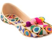 Women summer belly shoes women Footwear -Handmade Traditional Indian Party wear Shoes -Ethnic ballerinas