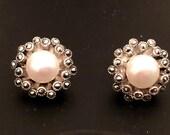 Silver Earrings- Pearl Stud Earrings - 925 Steriling Silver Earrings - Pearl Earrings
