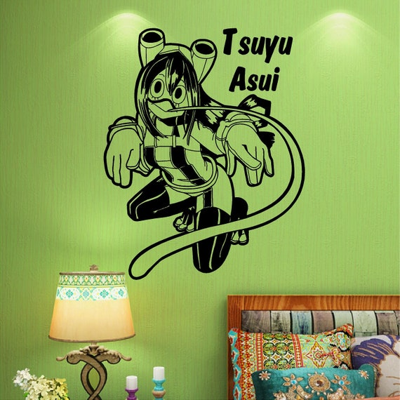 My Hero Academia Tsuyu Asui Froppy Wall Decal Window Decal Car Decals