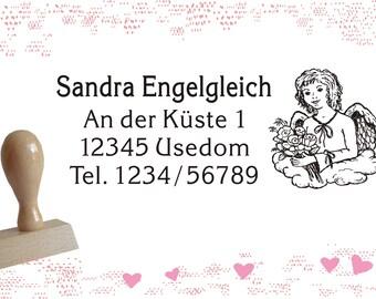 Stempel mit Kissen /« Wildschwein /» Adressenstempel Firmenstempel J/äger Jagd