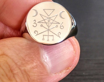 lilith seal esoteric jewelry Lilith seal ring gothic jewelry lilith jewelry lilith ring unisex ring occult ring