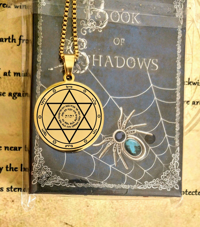 Witchcraft God names necklace healing amulet alchemy talisman