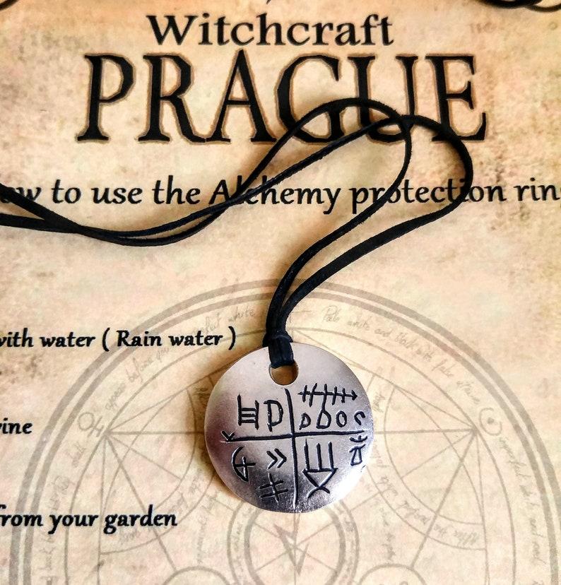 Witchcraft rune necklace amulet Wicca talisman handmade