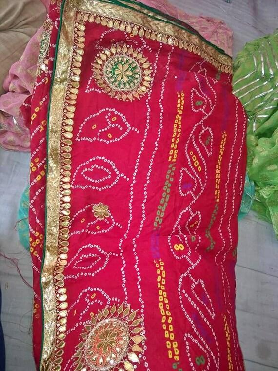 Custom Bollywood Style 18 American Girl Doll Black Cotton Bandani Saree