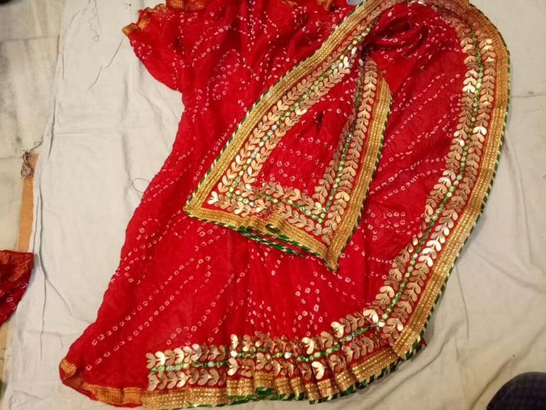 7c6f8cd2eb Silk Bandhej Saree Rajasthani Bandhani Saree Indian Saree | Etsy