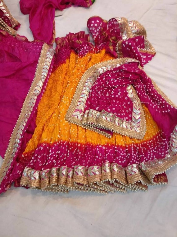 b3d85ccacf Rajasthani Bandhani Saree Indian Saree Traditional Saree | Etsy