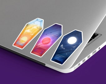Sky Coffin Holographic Stickers