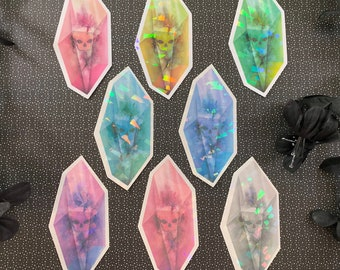 Skull Crystal Holographic Stickers