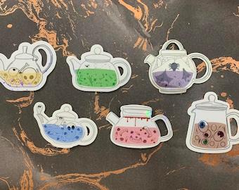 Spooky Teapot Holo Sticker