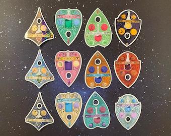 Zodiac Planchette Stickers