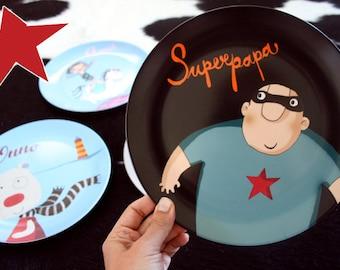 Melamine Dish ' Superpapa '
