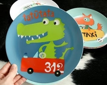 Melamine plate ' I want to be a firefighter '