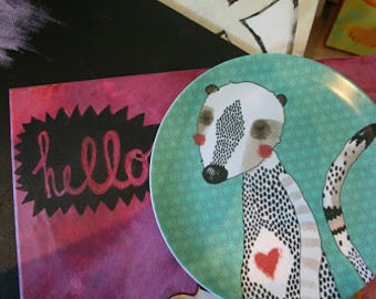 Melamine plate ' meerkat '