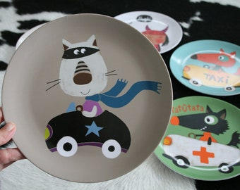 Melamine plate ' robber '