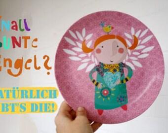 Melamine Plate 'Angel'