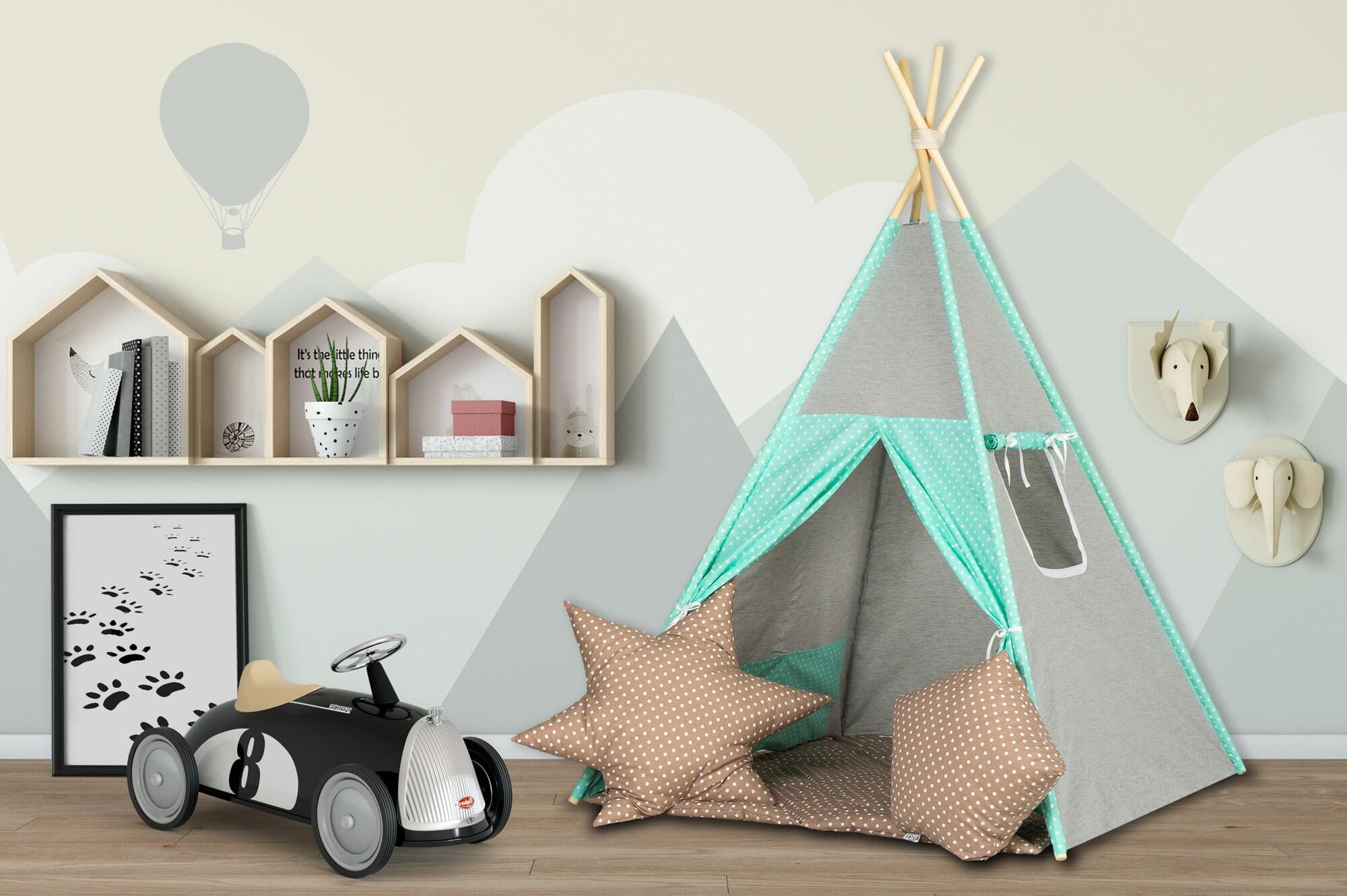 Elfique Nueva carpa para ni/ños carpa tipi para ni/ños carpa de juego con tapete de juego por Klara Brist