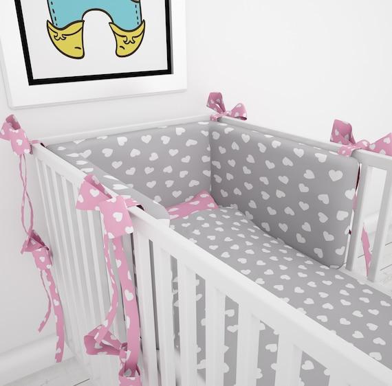 Baby Bettwasche 90x120 Cm Und Nestchen 60x120 Cm Etsy