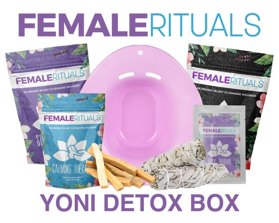 Yoni Detox Box   Yoni Steam Seat + Yoni Steaming Herbs + Yoni Pearls + Spiritual Cleansing Kit   Female Rituals   Free Shipping by Etsy