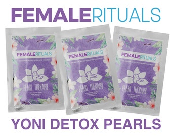 Yoni Pearls - Female Rituals (Pearl Therapy) - Vaginal Gems Yoni Detox Pearls Feminine and Vaginal Womb Wellness