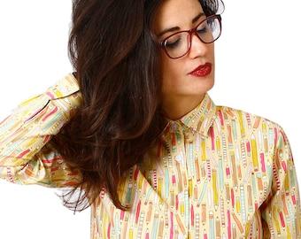 High collar shirt - Alternative clothing