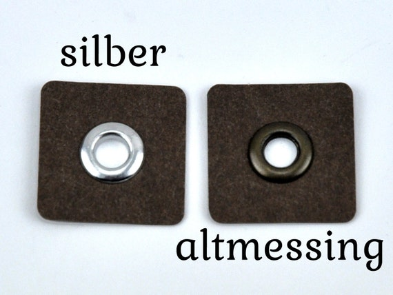 ca 1 Paar Metallösen 2 Stk. 30x27 mm Ösen auf Kunstleder rosa Herzform