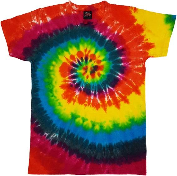 Tie Dye T Shirt Top Tee Tye Dye Music Festival Hipster Indie Retro Unisex TShirt
