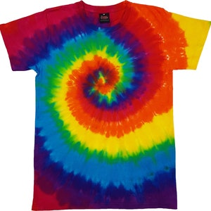 Tie Dye Unisex Top Quality Tee Shirt Dance Music Festival Hippy TShirt