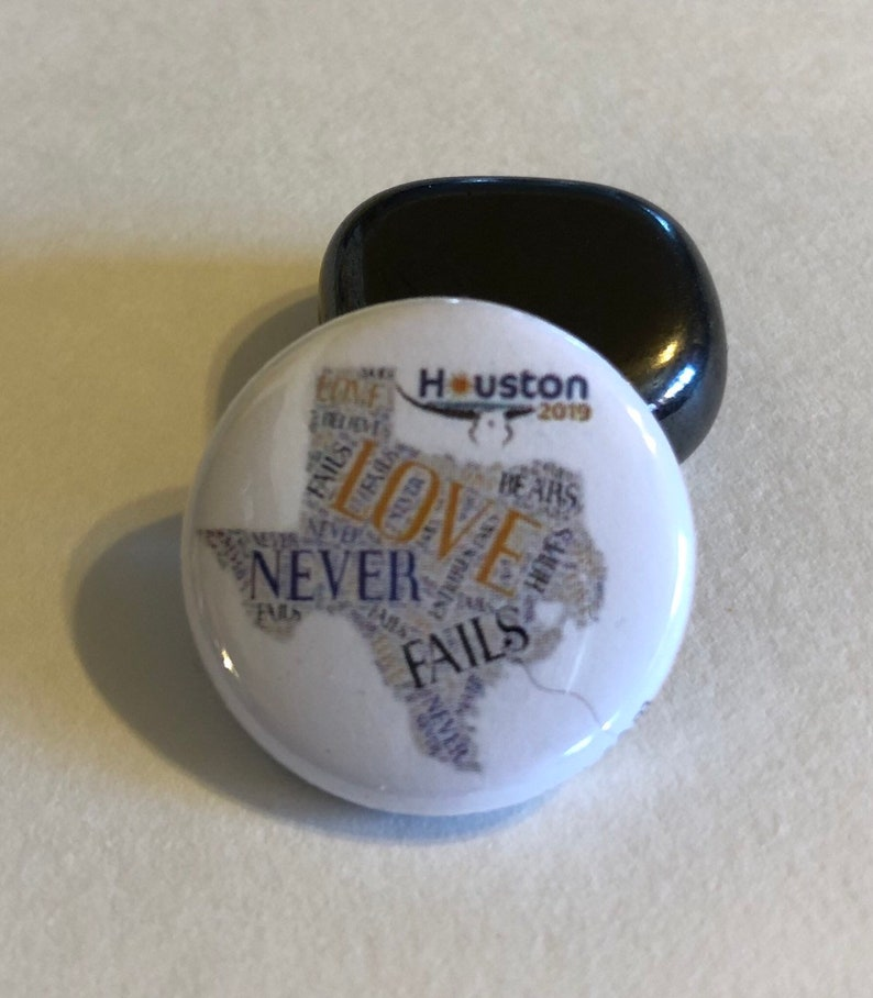Houston 2019 International Convention Pins Buttons Magnets Pendants  Tie-Tacks Keychains Custom Gifts Momentos