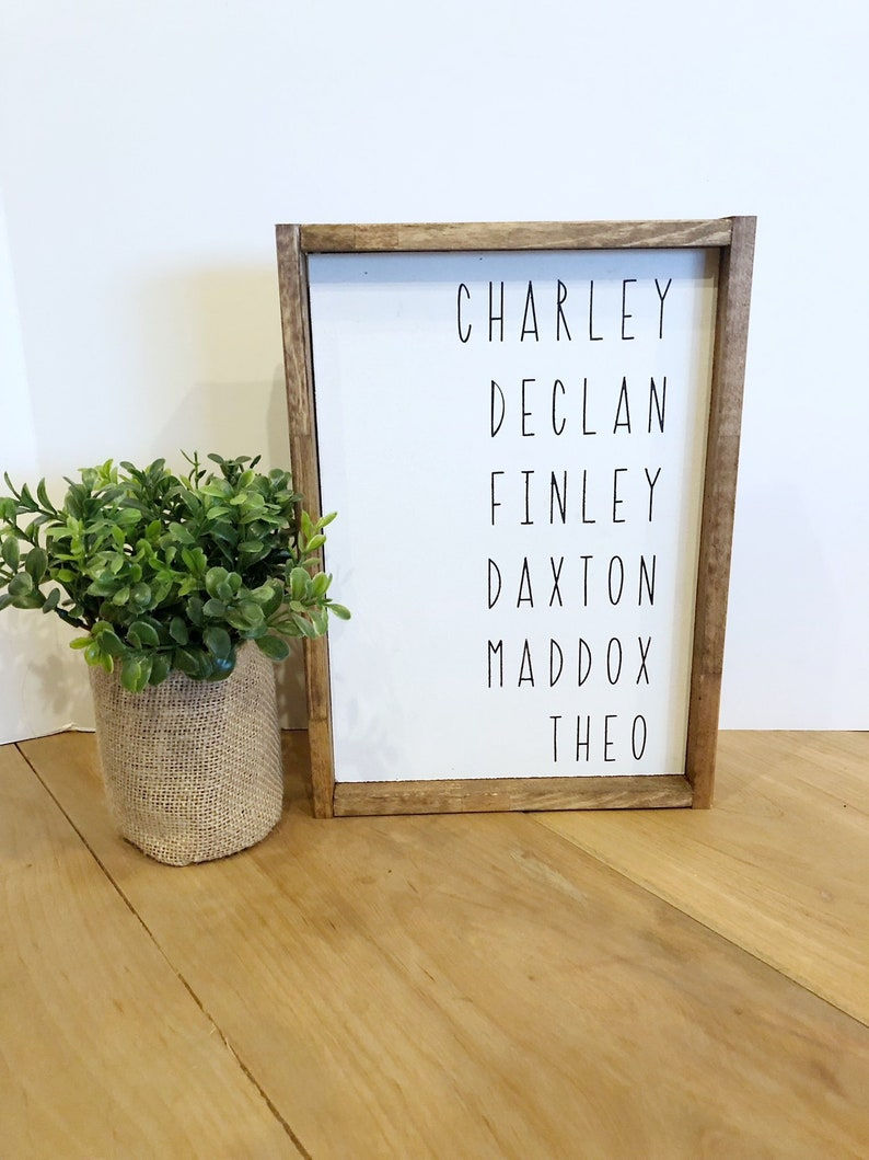 Listed Family Names Grandparent Gift Personalized Name Sign image 0