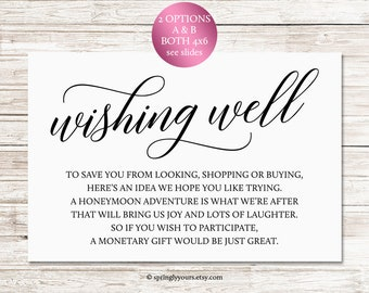 wishing well cards rustic wedding insert wedding wishing well printable cards download wishing well bridal shower printable in lieu of gifts