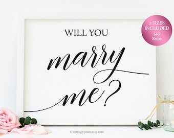 Marry me sign | Etsy