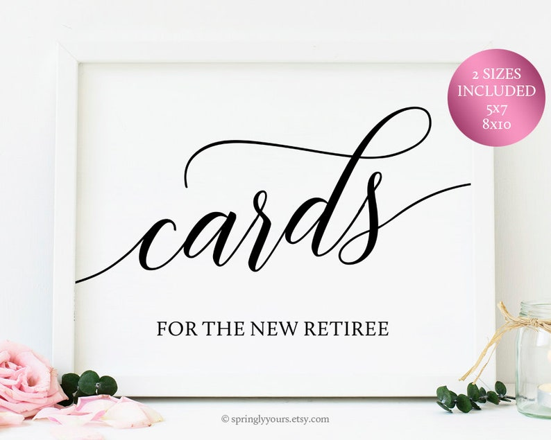 image about Printable Retirement Cards known as Retirement Playing cards Signal For Retirement Celebration Decorations Retirement Occasion Products Retirement Social gathering Printables Retirement Signage Printables