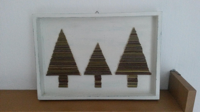 Weihnachtsdeko Tannenbäume Bilderrahmen | Etsy