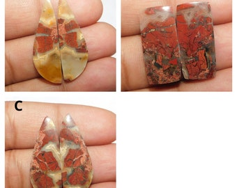 Natural red Rainbow jasper pear shape for jewelry cabochons stone loose gemstone top quality handmade gemstone jewelry  35x24x6m 43.cts