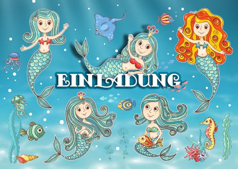 a4da507008f59b Fairytale mermaid invitations to the children s birthday