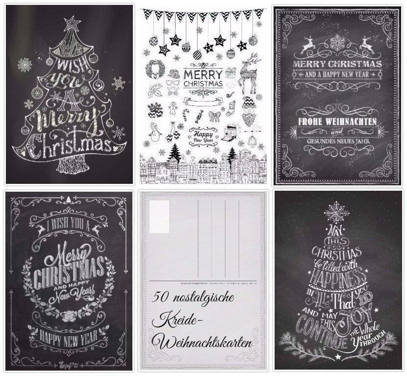 Nostalgische Weihnachtskarten Kostenlos.Weihnachtskarten Set Nostalgie Iii 50 Karten