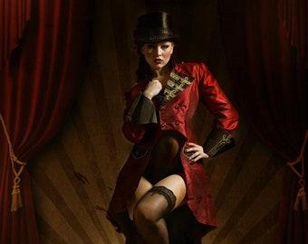 "Women's Frack ""circus,"" alternative wedding, bespoke, bespoke, costume, walking skirt ladies, Lesbian wedding, burlesque"