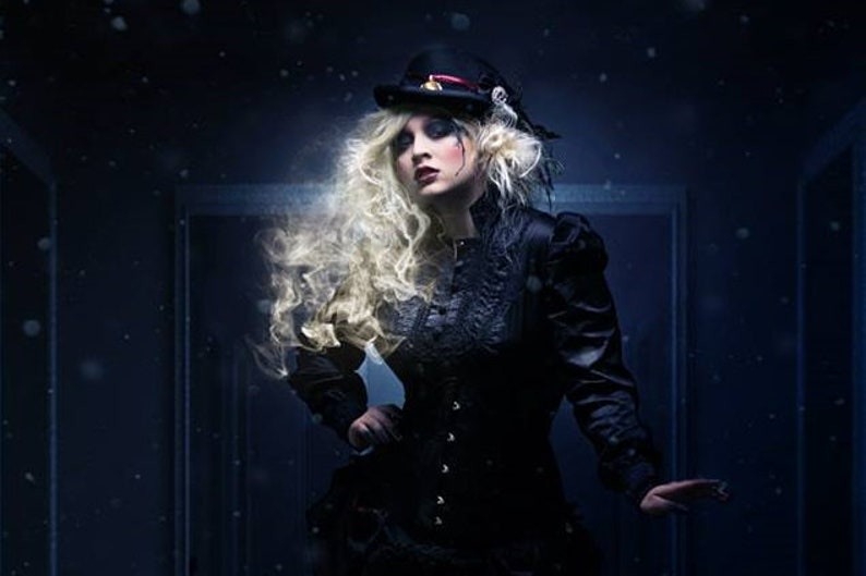 Dark victorian Gothic outfit consisting of corset blouse & image 0