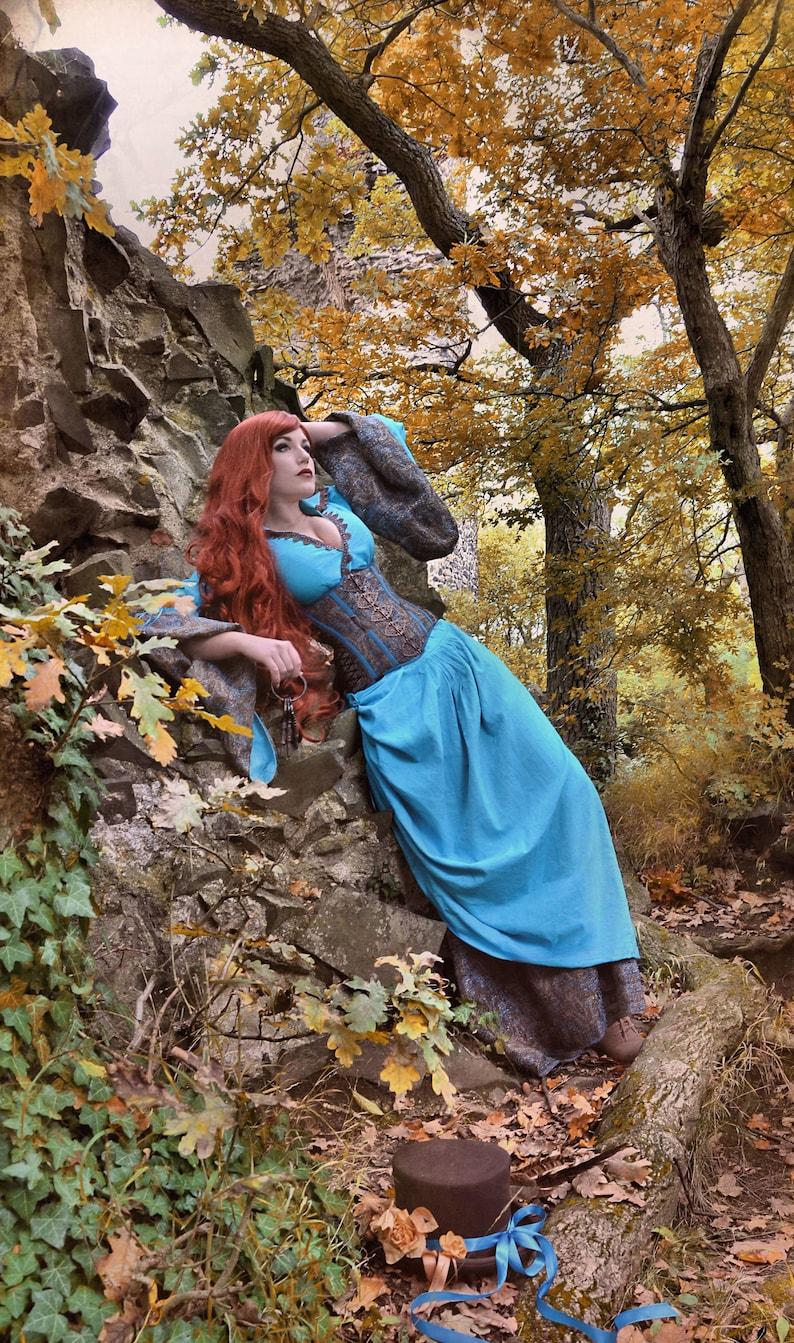 Fantasy dress Elysium with corset alternative wedding image 0