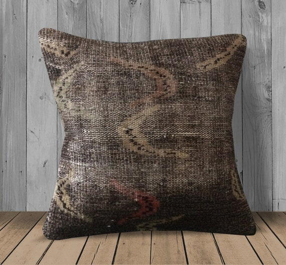 Awe Inspiring Tan Brown Pink Throw Pillow 20X20 Large Kilim Pillows Vintage Couch Cushion Cover Boho Pillow Case Living Room Decor Turkish Rug Pillow Gmtry Best Dining Table And Chair Ideas Images Gmtryco