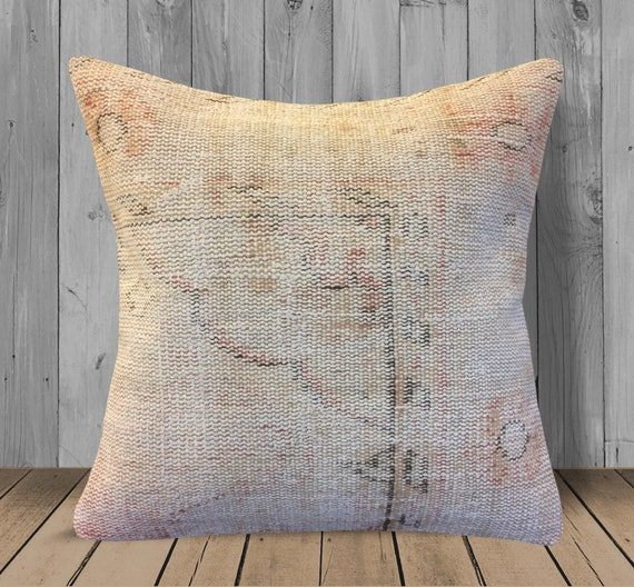 Fantastic Rose Gold Tan Rug Kilim Pillow Cover 20X20 Bohemian Couch Pillows Decorative Throw Pillows Large Floor Cushion Wool Outdoor Pillow Case Gmtry Best Dining Table And Chair Ideas Images Gmtryco