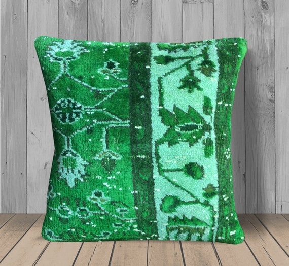 Wondrous Neon Green Floral Turkish Kilim Pillow 16X16 Decorative Throw Pillows Boho Decor Bohemian Couch Cushion Cover Tribal Pillow Sofa Pillow Pdpeps Interior Chair Design Pdpepsorg