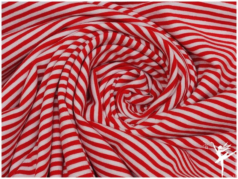 4 mm Stripes  ISA Jersey  Rot/Weiß  Ringel  image 0